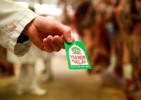RUNGIS: Halal meat at Rungis international food market.