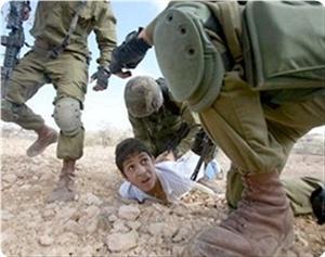 Enfant palestinien arrêté