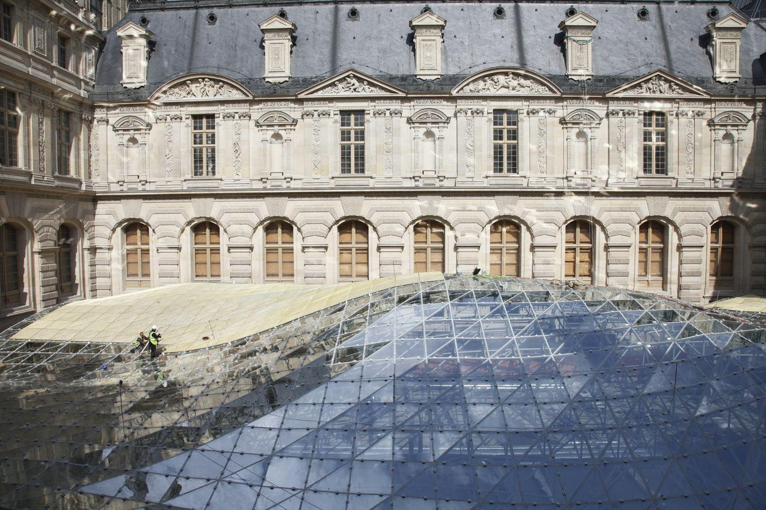 La verrière du département des arts islamiques au Louvre