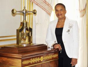 Portrait de Christiane TAUBIRA, Garde des Sceaux, ministre de la Justice. Chancellerie le 6 juin 2012