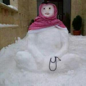 neige arabie