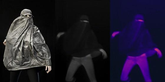 """Burqa"" anti-drone par Adam Harvey"