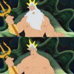 Le Roi Triton dans la Petite Sirène
