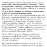 Lettre adressée à l'ambassade - recto