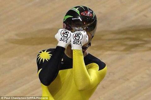 Save Gaza cycliste malaisien