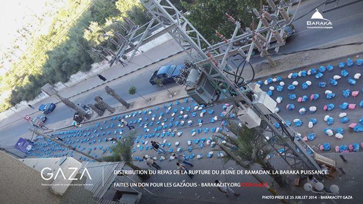 25 juillet 2014 à Gaza, préparation de l'iftar
