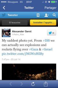 Tweet d'Alexander Gerst