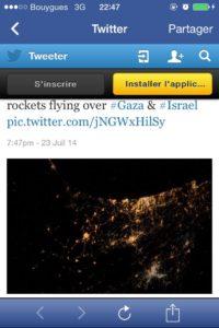 Les bombardements israéliens se déversant sur Gaza vus depuis l'espace.