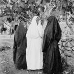 Palestiniennes vêtues d'un voile intégral