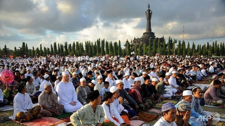 prière de l'Aïd en Indonésie