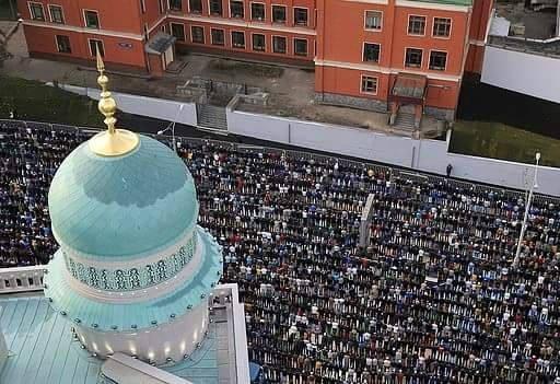 Prière de l'Aïd en Russie
