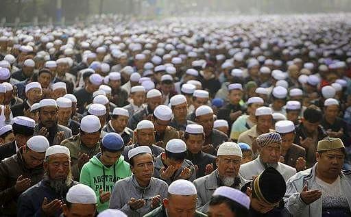 prière de l'Aïd en Chine