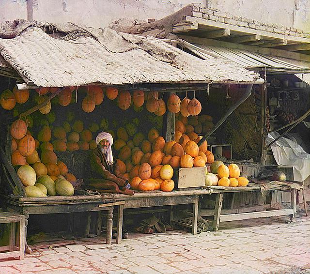 Un vendeur de fruits