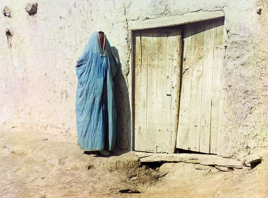 Une femme musulmane portant un voile iintégral