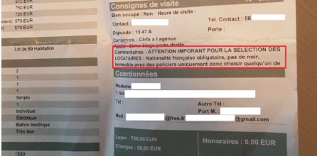 L'agence immobilière Laforêt publie une annonce raciste excluant étrangers et noirs