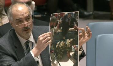 L'ambassadeur de Syrie à l'ONU : en plein mensonge !