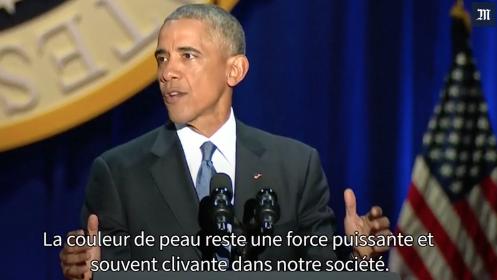 Barack Obama : « Ne considérons jamais notre démocratie comme acquise »
