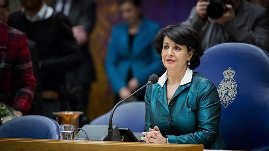 Khadija Arib, à la tête de la Chambre basse aux Pays-Bas