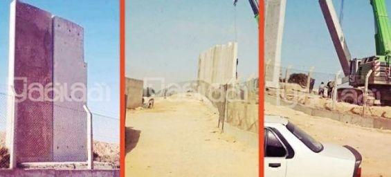 Un mur va séparer la frontière entre l'Algérie et le Maroc